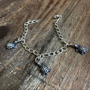 Jewelry - Sterling Silver Charm Bracelet - Turtles